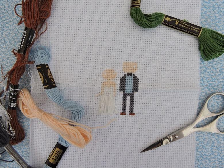 Point de croix de mariage (2)